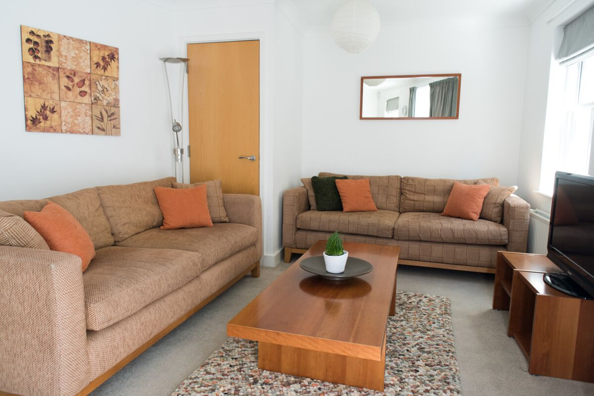 Living Area, Nelson Court Serviced Apartments, Cambridge