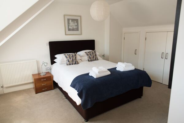Bedroom, Nelson Court Serviced Apartments, Cambridge