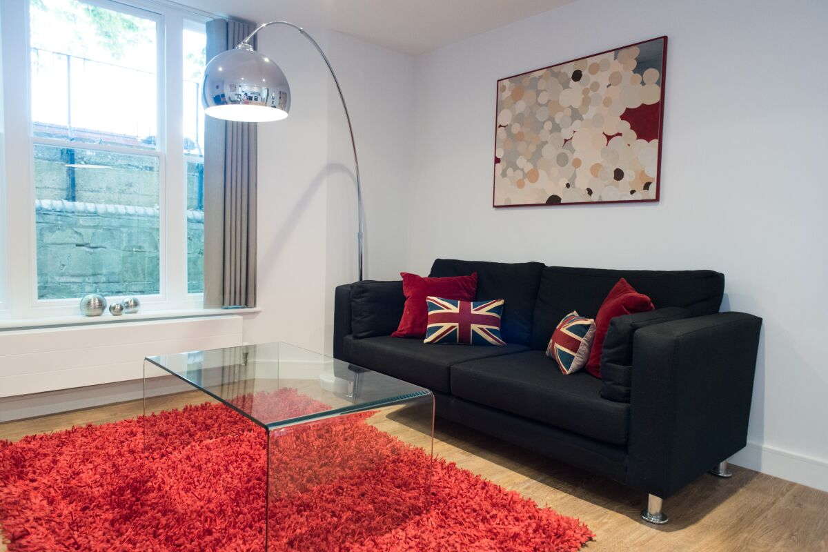Living Area, Jubilee House Serviced Apartments, Cambridge