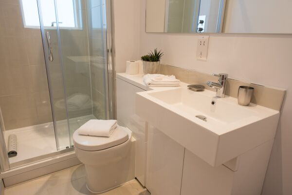 Bathroom, Jubilee House Serviced Apartments, Cambridge