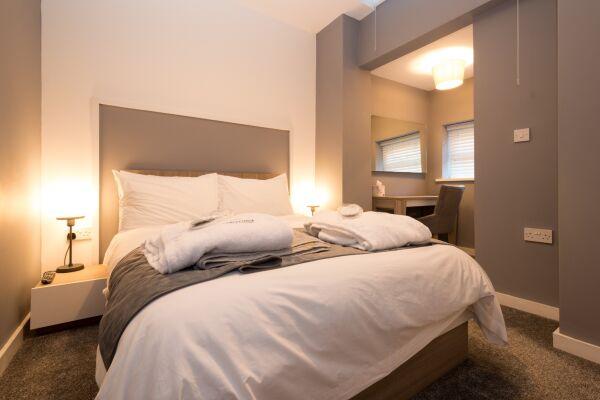 Bedroom, Fitzhamon Serviced Apartments, Cardiff