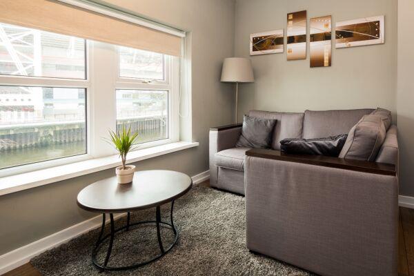 Living Area, Fitzhamon Serviced Apartments, Cardiff