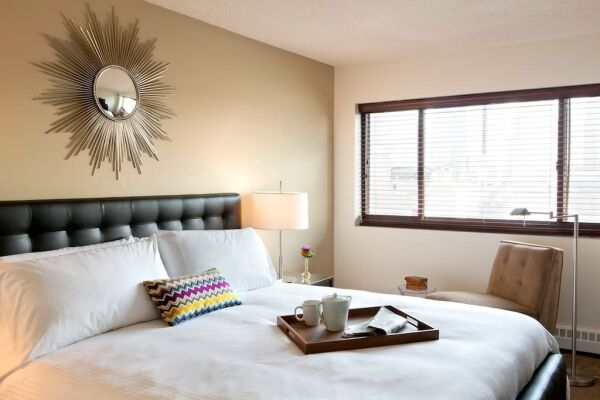 Bedroom, The Metro Serviced Apartments, White Plains, New York