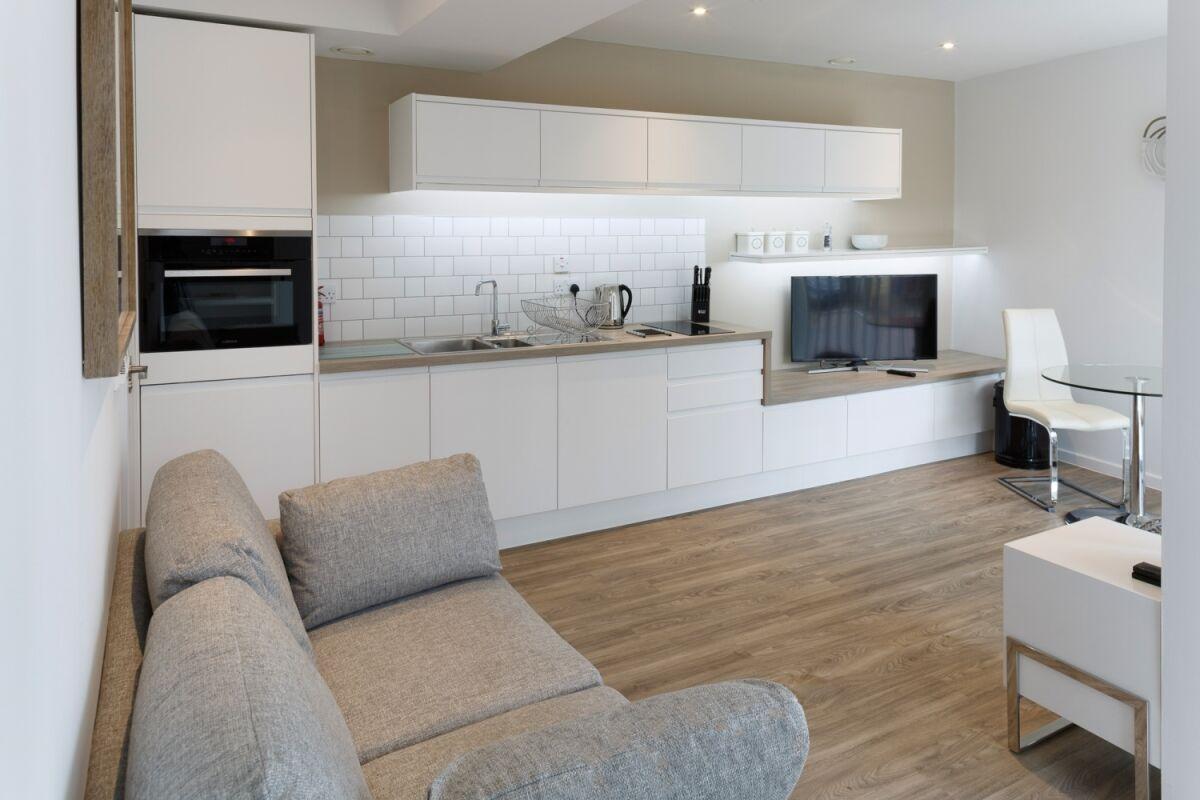 Living Area, Devonshire Road Serviced Apartments, Cambridge