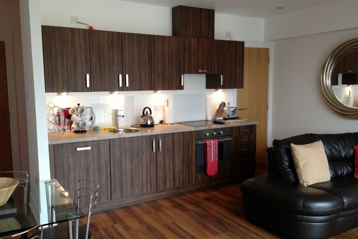 Kitchen, Virginia Galleries Serviced Apartment, Glasgow