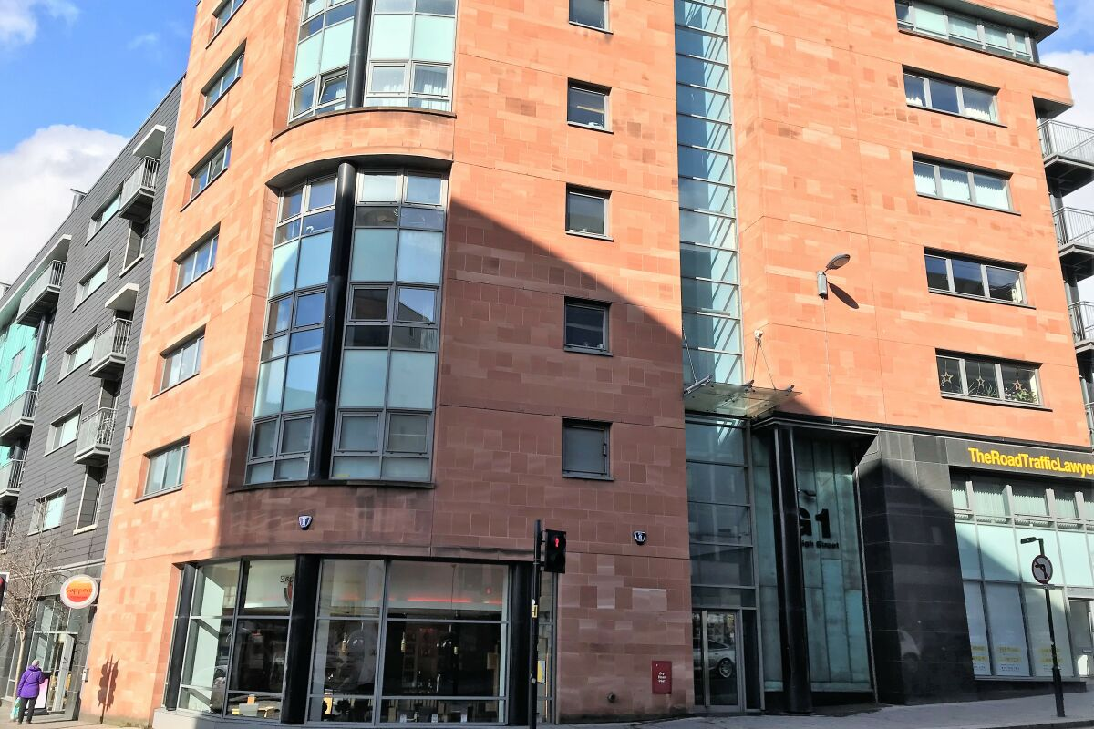 Exterior College Serviced Apartment Building, Glasgow