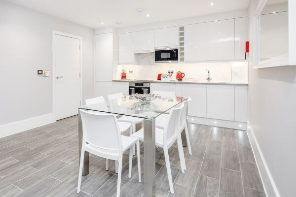 Kitchen and Dining Area, The Legacy Serviced Apartments, Hove