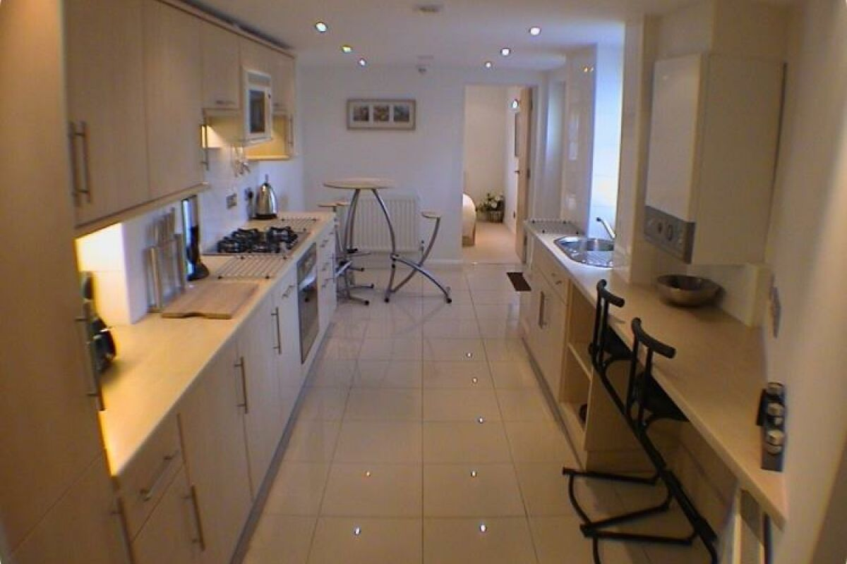 Kitchen, Earle House Serviced Apartments, Crewe