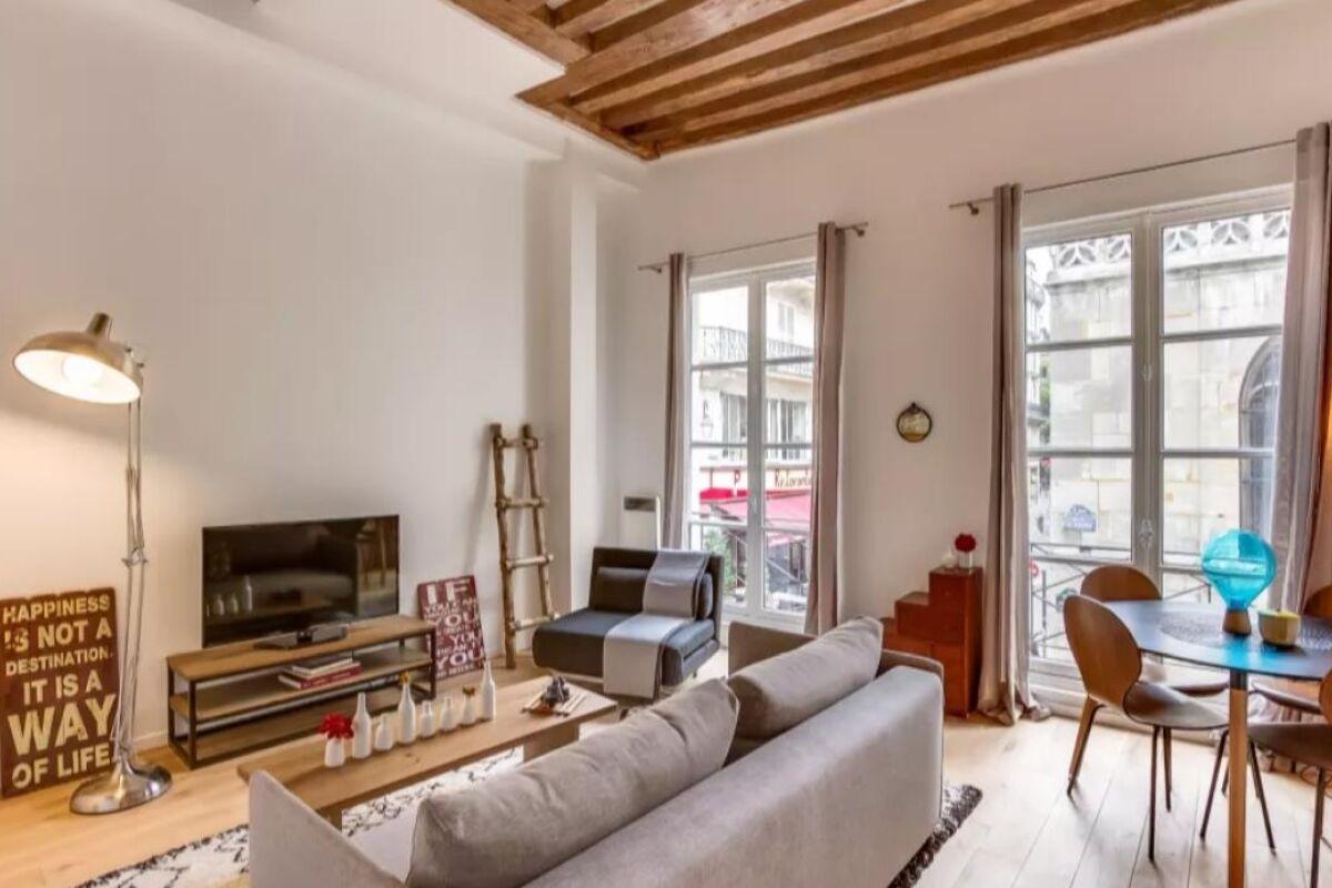 Living area, Cygne Serviced Apartment, Paris