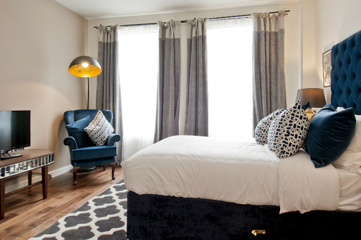 Bedroom, Monument Street Serviced Apartments, The City of London