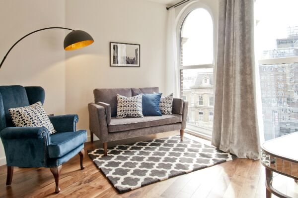Living Room, Monument Street Serviced Apartments, The City of London
