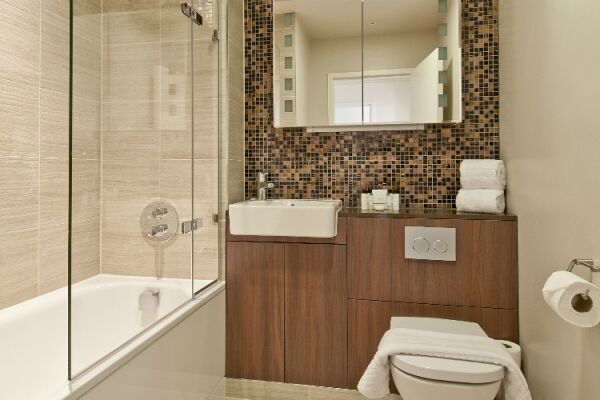 Bathroom, Monument Street Serviced Apartments, The City of London