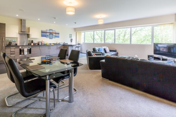 Open Plan Living Area, St. Edmund House Serviced Apartments, Ipswich