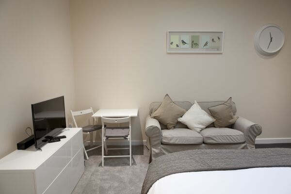 Living Area, St. Edmund House Serviced Apartments, Ipswich