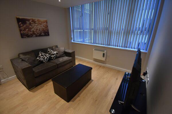 Living Area, Princes Street Serviced Apartment, Ipswich