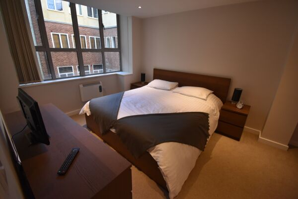 Bedroom, Princes Street Serviced Apartment, Ipswich