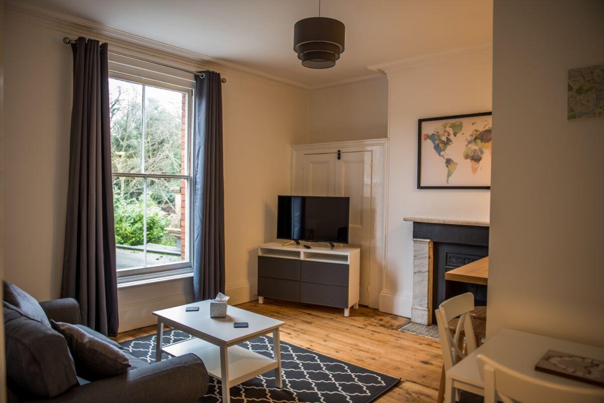 Open Plan Living Area, Fonnereau Road Serviced Apartment, Ipswich