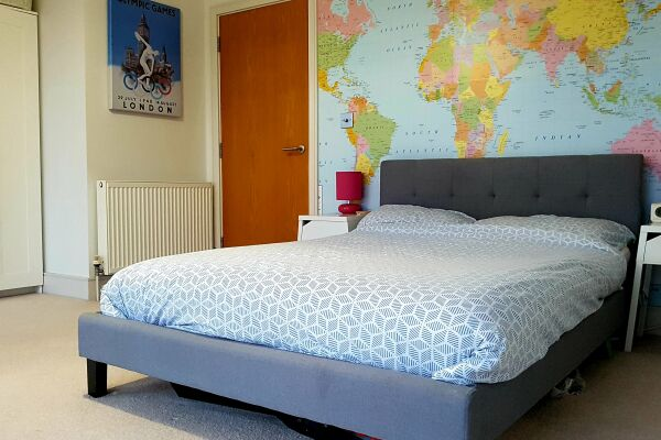 Bedroom, Fore Hamlet Serviced Apartment, Ipswich