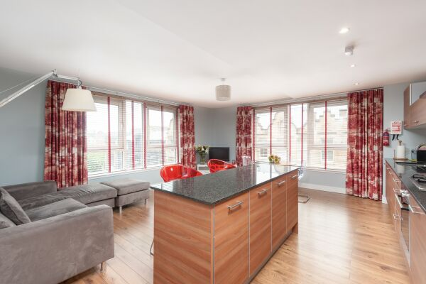 Living Area, Ingram Street Serviced Apartment, Glasgow