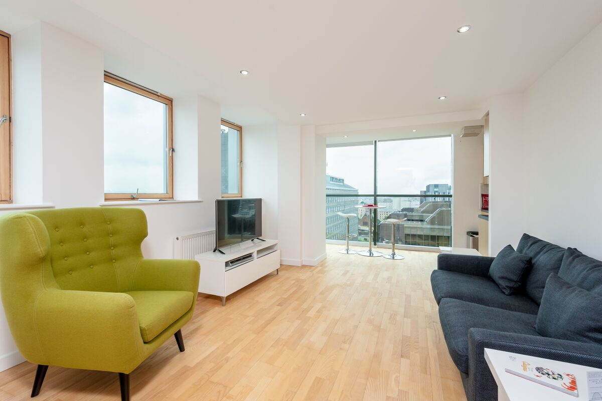 Living Area, Pinnacle Serviced Apartments, Glasgow