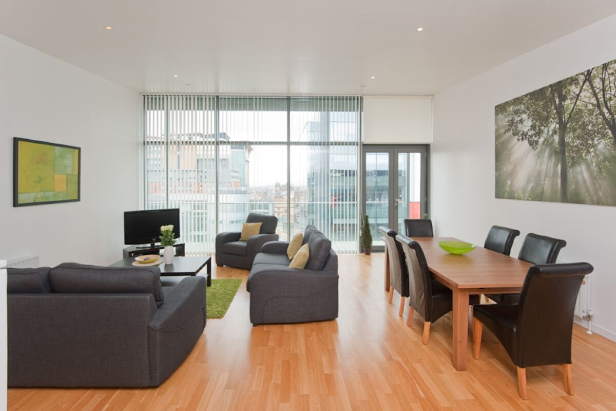 Living Area, Matrix Serviced Apartment, Glasgow