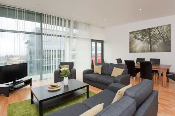 Living Area, Matrix Serviced Apartment, Glasgow