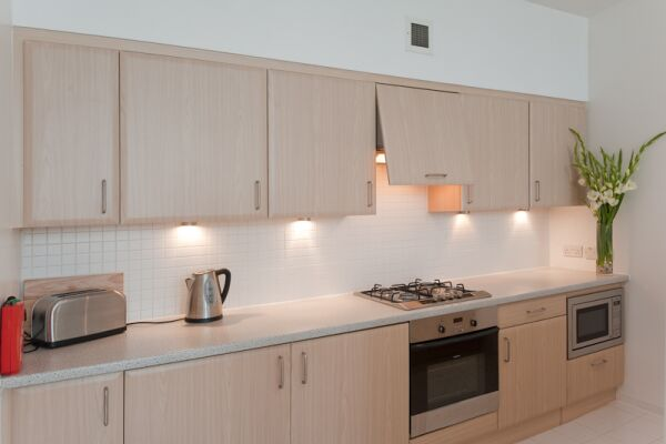 Kitchen, Matrix Serviced Apartment, Glasgow