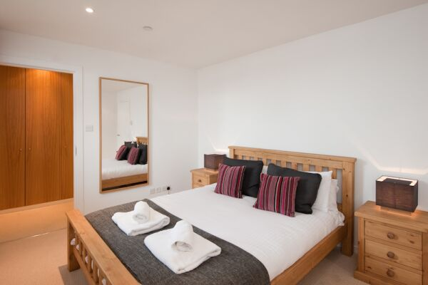 Bedroom, Matrix Serviced Apartment, Glasgow