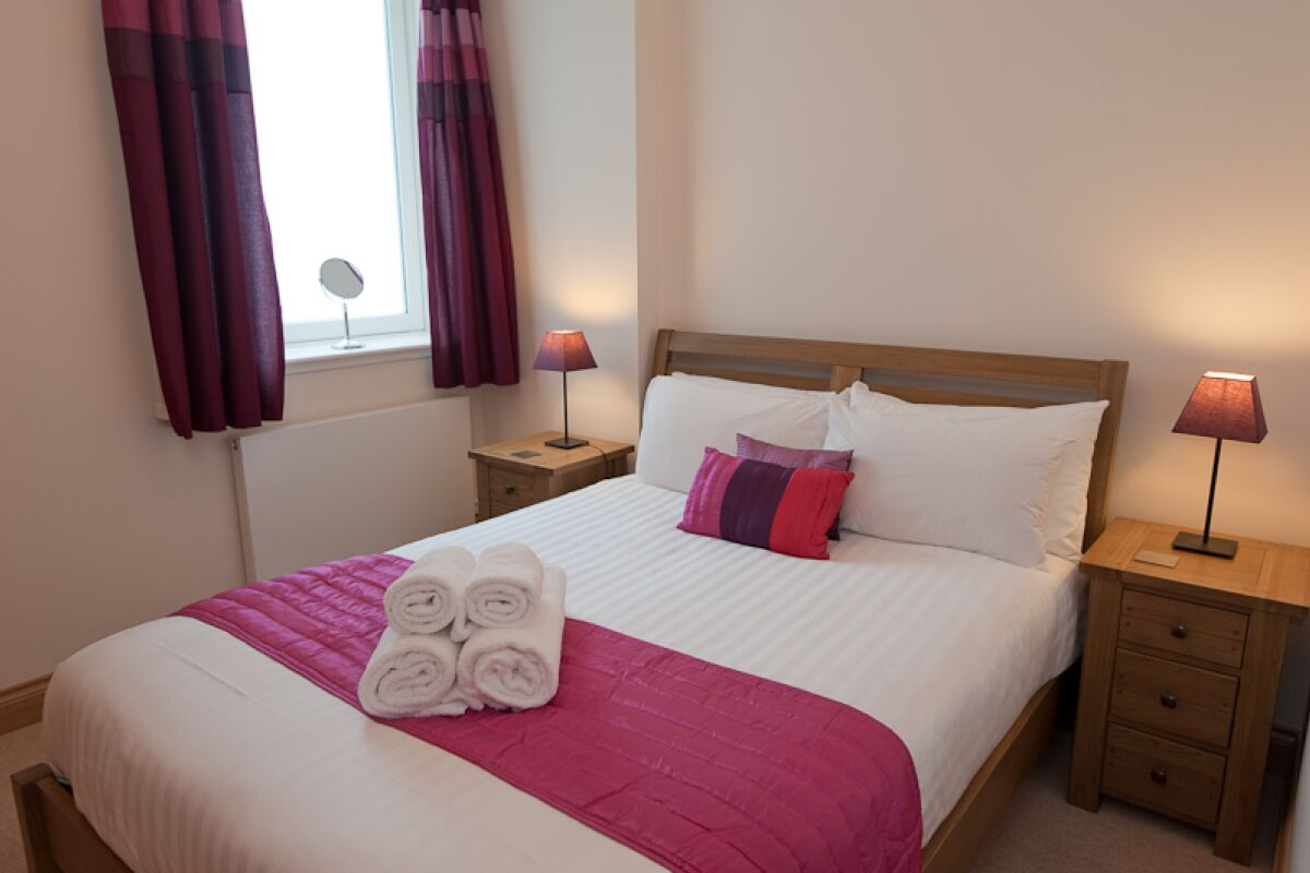 Bedroom, Palazzo Serviced Apartment, Glasgow