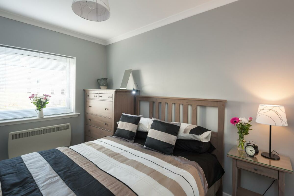 Bedroom, Brunswick Serviced Apartment, Glasgow