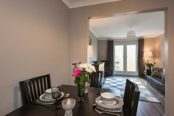 Dining Area, Brunswick Serviced Apartment, Glasgow