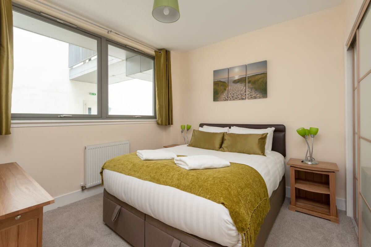 Bedroom, Virginia Street Serviced Apartment, Glasgow