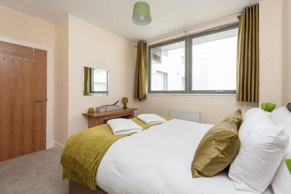 Bedroom, Virginia Street Serviced Apartment, Glasgow