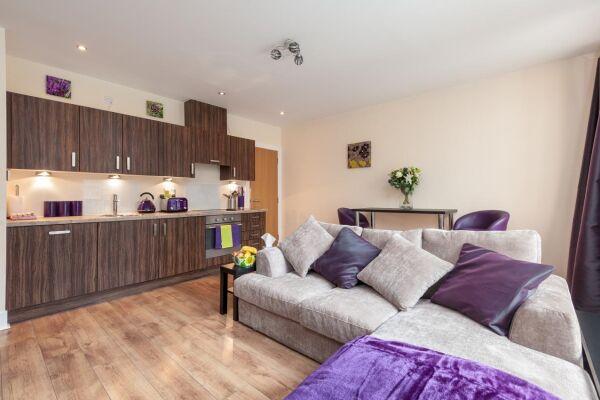 Living Area, Virginia Street Serviced Apartment, Glasgow