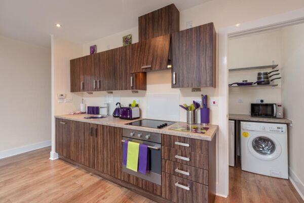 Kitchen,Virginia Street Serviced Apartment, Glasgow
