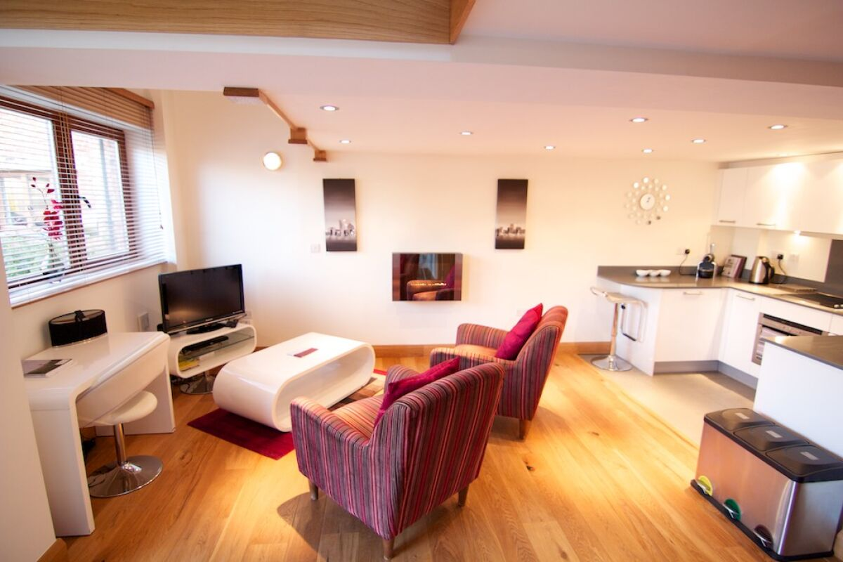Living Area, Ashbrook Mews Serviced Apartments, Didcot