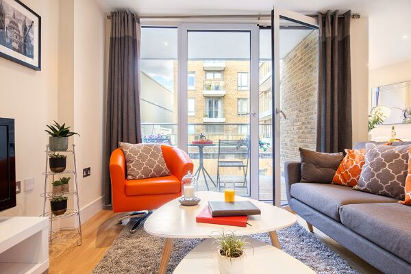 Living Area, Canary Gateway Serviced Apartments, Limehouse, London