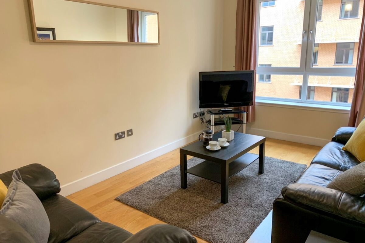 Living room, Ingram Serviced Apartment, Glasgow