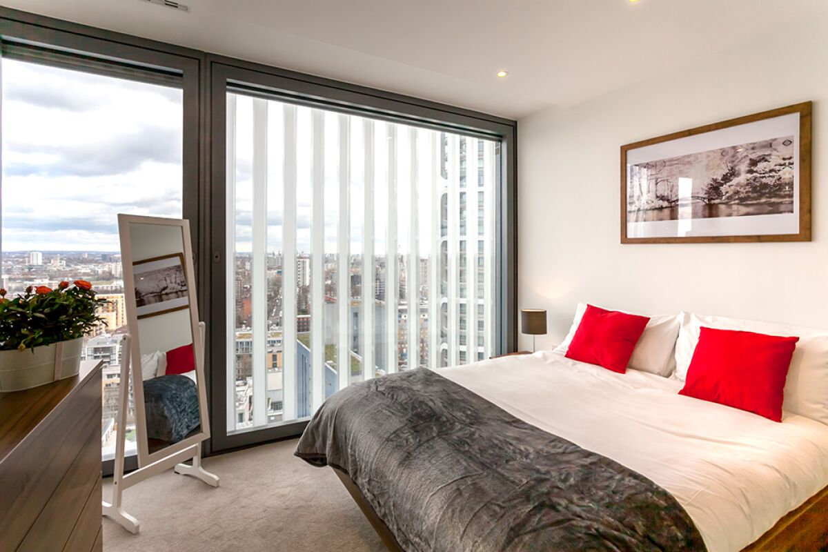Bedroom, Lexicon Serviced Apartments, Angel, London