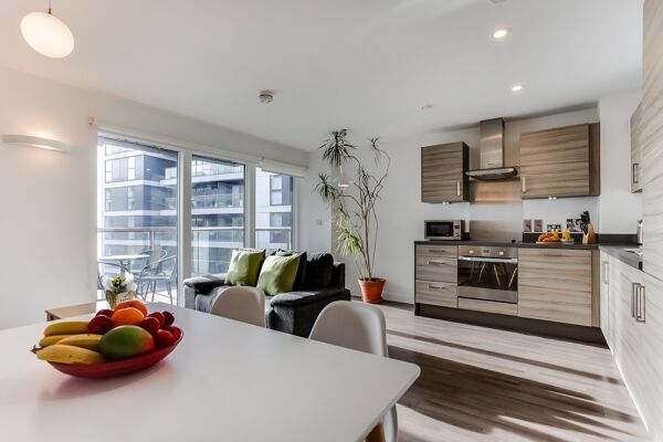 Open Plan Living Area, Dance Square Serviced Apartments, Clerkenwell, London