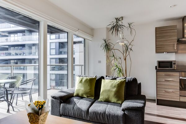 Living Area, Dance Square Serviced Apartments, Clerkenwell, London