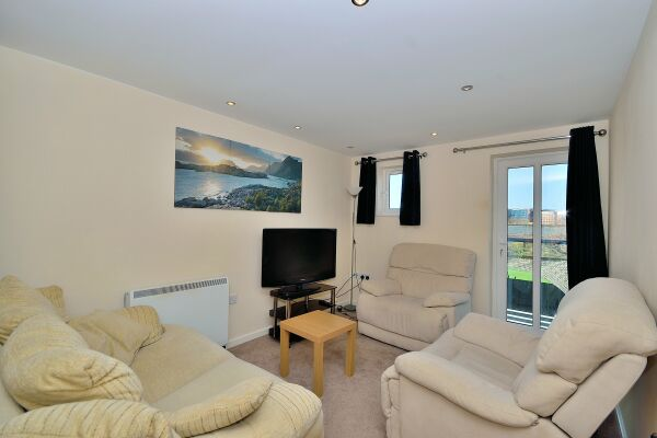 Living Area, Saddlery Way Serviced Apartment, Chester