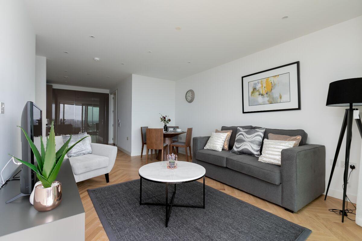 Living Area, Southwark Bridge Serviced Apartments, London