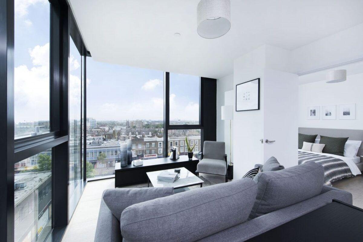 Living area, Highgate Serviced Apartment, London