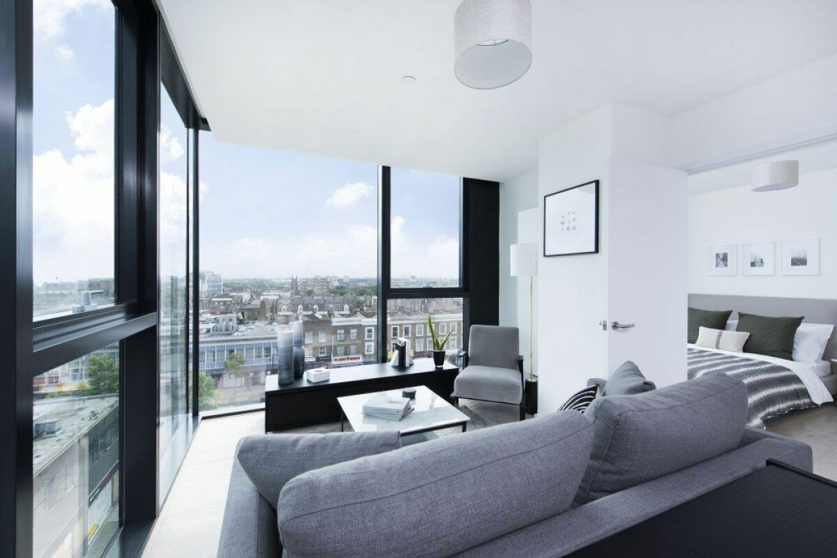 Living area, Highgate Serviced Apartment, London