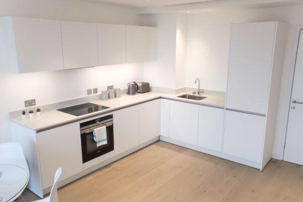 Kitchen, Highgate Serviced Apartment, London