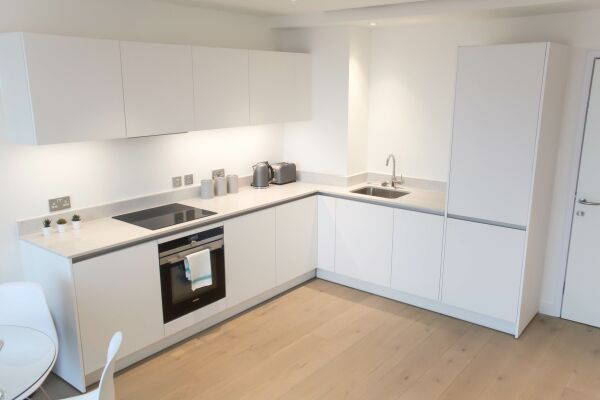 Kitchen, Highgate Serviced Apartment, London