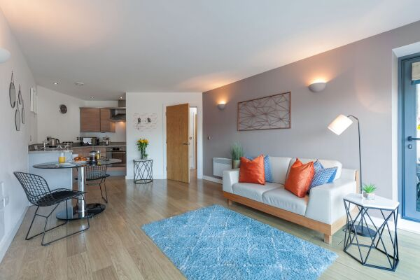 Living Area, Waterloo Court Serviced Apartments, Leeds