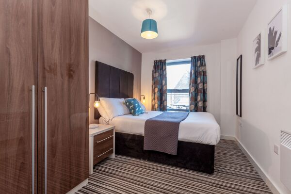 Bedroom, Waterloo Court Serviced Apartments, Leeds