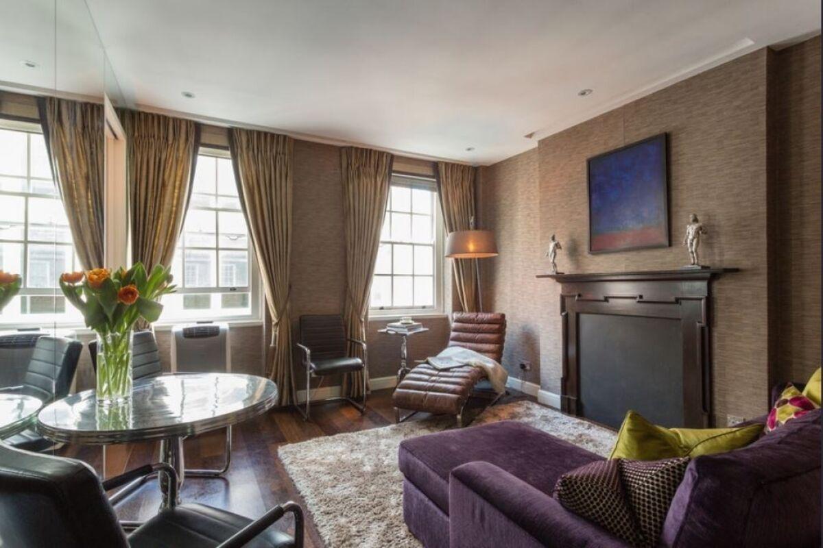 Living Area, Duke of York Street Serviced Apartment, St. James's